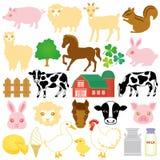 Iconos comunes de la granja ilustración del vector
