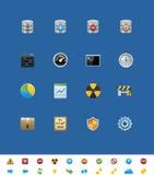 Iconos comunes del Web site del vector. Base de datos ilustración del vector