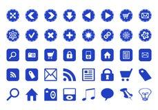 Iconos con diversos símbolos Fotografía de archivo libre de regalías
