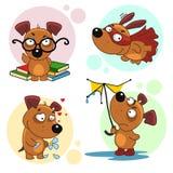 Iconos con la parte 1 de los perros Imagenes de archivo