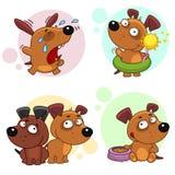 Iconos con la parte 6 de los perros Fotos de archivo
