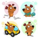 Iconos con la parte 4 de los perros Imagenes de archivo