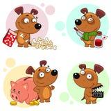 Iconos con la parte 5 de los perros Fotografía de archivo libre de regalías