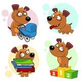 Iconos con la parte 8 de los perros Imagen de archivo libre de regalías