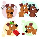 Iconos con la parte 9 de los perros Imagenes de archivo