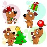 Iconos con la parte 10 de los perros Imagen de archivo