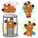 Iconos con la parte 16 de los perros Imagenes de archivo