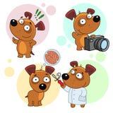 Iconos con la parte 17 de los perros Foto de archivo libre de regalías