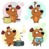Iconos con la parte 18 de los perros Fotos de archivo libres de regalías