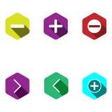 Iconos con las muestras matemáticas Foto de archivo