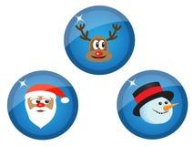Iconos con los caracteres de la Navidad libre illustration
