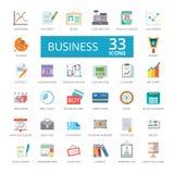 Iconos conectados con el negocio ilustración del vector