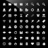 Iconos contentos del Web del sistema de gestión del CMS Fotos de archivo libres de regalías