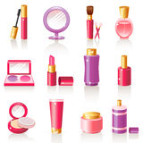Iconos cosméticos Imagen de archivo libre de regalías
