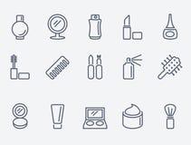 Iconos cosméticos stock de ilustración
