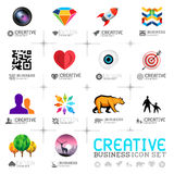 Iconos creativos del negocio Imagen de archivo