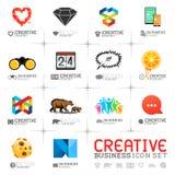 Iconos creativos del negocio Fotografía de archivo