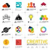 Iconos creativos del negocio Imagen de archivo libre de regalías