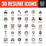 30 iconos creativos del vector del curriculum vitae basados en sistema modular Sistema de 30 iconos del vector del concepto del n libre illustration
