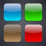 Iconos cuadrados del modelo del app. ilustración del vector