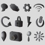 iconos 3D Imagen de archivo libre de regalías