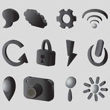 iconos 3D libre illustration