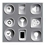iconos 3D o imagen grises Imagenes de archivo