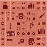 Iconos de Adio Imágenes de archivo libres de regalías
