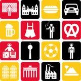 Iconos de Alemania Imagen de archivo