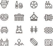 Iconos de Alemania libre illustration