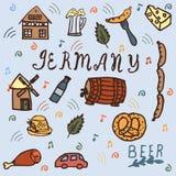 Iconos de Alemania fijados EN ESTILO del GARABATO libre illustration