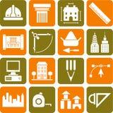 Iconos de Architecture&constrcution Foto de archivo libre de regalías