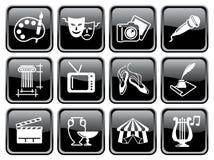 Iconos de artes en los botones Foto de archivo libre de regalías