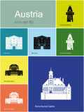 Iconos de Austria libre illustration