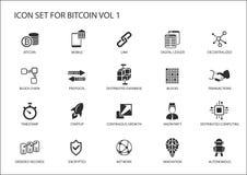 Iconos de Bitcoin stock de ilustración