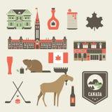 Iconos de Canadá Imagen de archivo libre de regalías