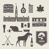 Iconos de Canadá stock de ilustración