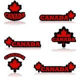 Iconos de Canadá ilustración del vector