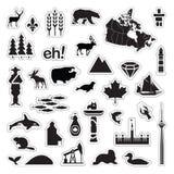Iconos de Canadá Foto de archivo