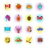 Iconos de Canadá fijados Foto de archivo libre de regalías