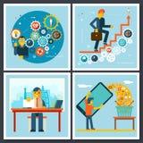 Iconos de Characters Scenes Symbol del hombre de negocios encendido Fotografía de archivo