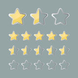 Iconos de clasificación de la situación de las estrellas Fotografía de archivo libre de regalías