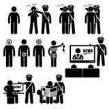 Iconos de Cliparts de las restricciones de Censorhip Government Media del censor Imagen de archivo