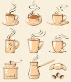 Iconos de Coffe Fotografía de archivo libre de regalías