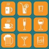 Iconos de consumición Fotografía de archivo libre de regalías