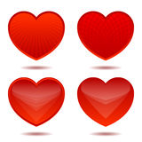 Iconos de corazones Foto de archivo libre de regalías