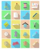 Iconos de costura Fotografía de archivo