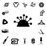 Iconos de costura de la silueta Foto de archivo libre de regalías