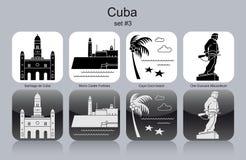 Iconos de Cuba Imagen de archivo libre de regalías