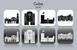 Iconos de Cuba Foto de archivo